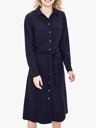 Oasis Shift Shirt Dress, Navy