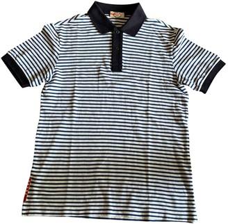 Prada Blue Cotton Polo shirts