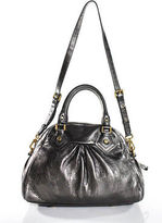 Marc by Marc Jacobs Silver Leather Gold Tone Hardware Shoulder Handbag