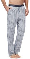 Calvin Klein Blue Striped Print Pyjama Bottoms