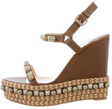 Christian Louboutin Studded Wedge Sandals