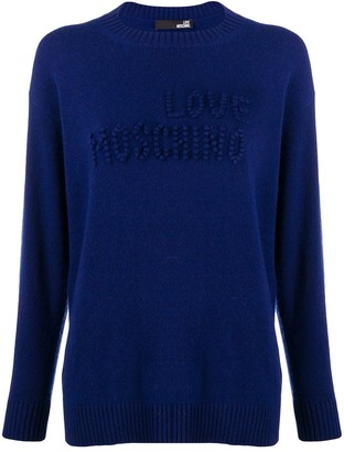 Love Moschino Stitched Logo Jumper