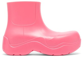 Bottega Veneta Puddle Biodegradable-rubber Ankle Boots - Fuchsia