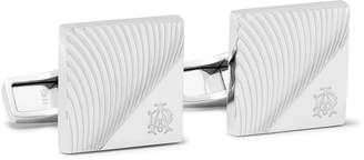 Dunhill Engraved Rhodium-Plated Cufflinks