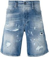 Diesel distressed denim shorts - men - Cotton - 29