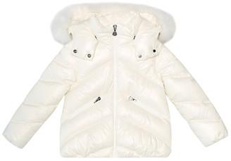 Moncler Enfant Anglais fur-trimmed down coat