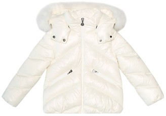 Moncler Enfant Fur-trimmed down coat