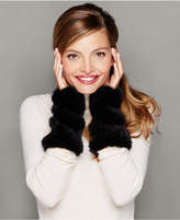 The Fur Vault Knitted Mink Fur Fingerless Gloves