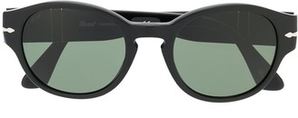 Persol Two-Tone Round-Frame Sunglasses