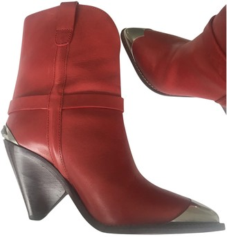 Isabel Marant Lamsy Red Leather Boots