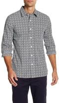 Jack Spade Grant Hand Printed Long Sleeve Trim Fit Shirt