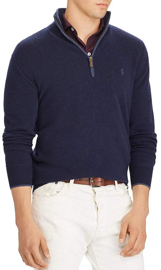 Polo Ralph Lauren Washable Cashmere Half-Zip Sweater - 100% Exclusive