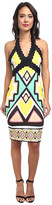 Hale Bob Global Glamor Neoprene Halter Dress