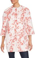 Giambattista Valli Floral Cotton-Blend Floral Jacket