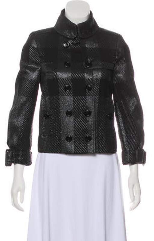 aca7fc2872b Beat Check Button-Up Jacket Black Beat Check Button-Up Jacket