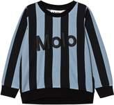 Molo Faded Denim Stripe Maya Sweatshirt