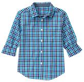 Gymboree Blue & White Plaid Button-Up - Boys
