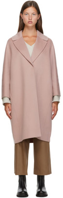 S Max Mara Pink Wool Julia Coat