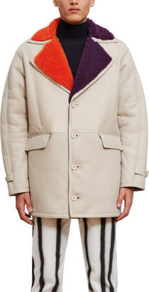 Opening Ceremony Shearling Car Coat