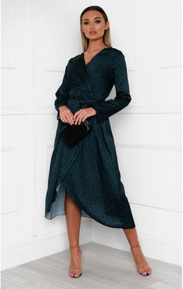 IKRUSH Yana Printed Floaty Maxi Dress