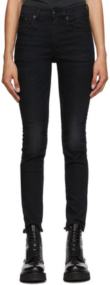 R 13 Black High-Rise Skinny Jeans