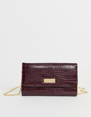 Carvela Favour chain purse in wine-Purple
