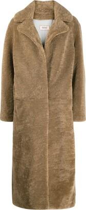 Yves Salomon Meteo Long Shearling Coat