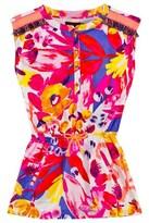 Catimini Multi Floral Print Woven Dress
