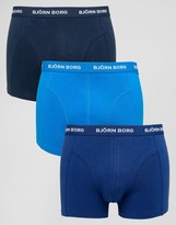 Bjorn Borg 3 Pack Trunks Blue Multi