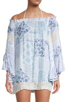 Thumbnail for your product : Surf.Gypsy Swiss Dot Crochet Trim Cover-Up Top