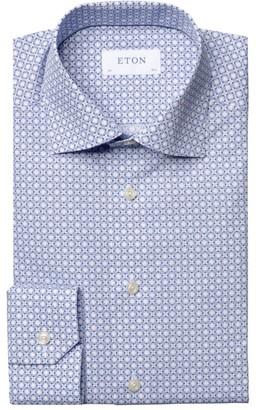 Eton Slim-Fit Medallion-Print Cotton Dress Shirt