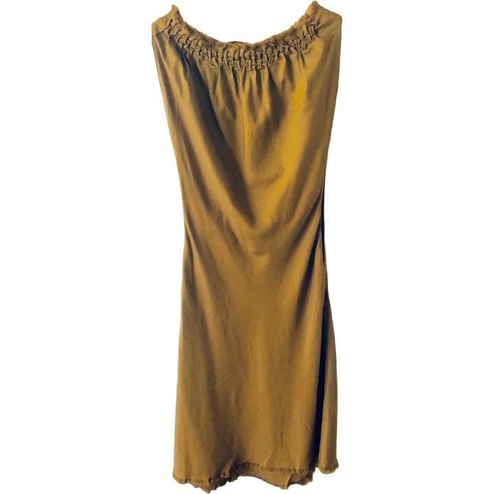 David Szeto Yellow Wool Dress for Women