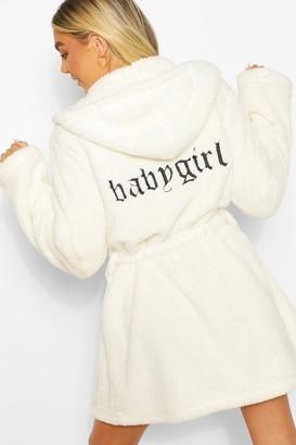boohoo Babygirl Embroidered Robe