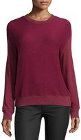 Spiritual Gangster Laguna Tulip-Back Pullover Sweatshirt, Red