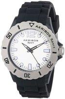 Akribos XXIV Women's AK536BK Essential Luminous Quartz Silicon Strap Watch