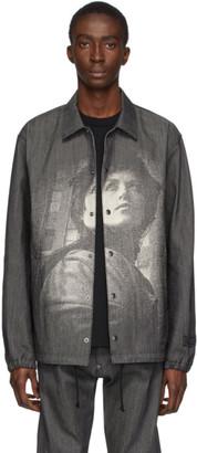 Undercover Black Denim Portrait Jacket