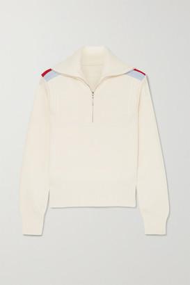 Cordova Are Striped Ribbed Merino Wool Sweater - White