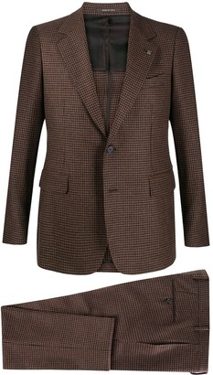 Tagliatore Two-Piece Houndstooth Pattern Suit