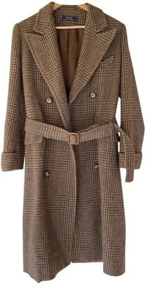 Polo Ralph Lauren Brown Tweed Coat for Women