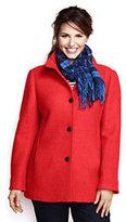 Lands' End Women's Plus Size Boiled Wool Jacket-Soft Magenta