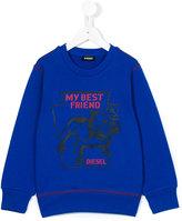 Diesel My Bestfriend sweatshirt - kids - Cotton - 2 yrs