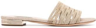 Casadei Bead -Embellished Strap Sandals