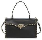 Valentino Small Rockstud Leather Top Handle Satchel - Black