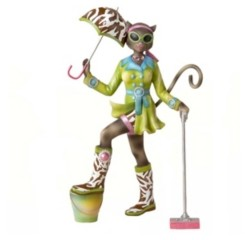 Kurt Adler 8-Inch Alley Cats Resin Go Go Mopping Tablepiece