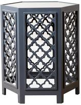 Abbyson Living Garland Mirrored End Table - Blue
