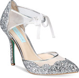 Blue by Betsey Johnson Stela Front-Tie Pumps