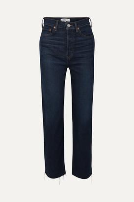 RE/DONE Ultra High Rise Stove Pipe Comfort Stretch Straight-leg Jeans - Dark denim