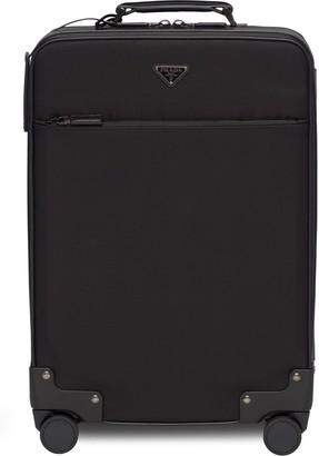 Prada Logo Four-Wheel Suitcase