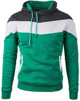 Mooncolour Mens Novelty Color Block Hoodies Cozy Sport Autumn Outwear