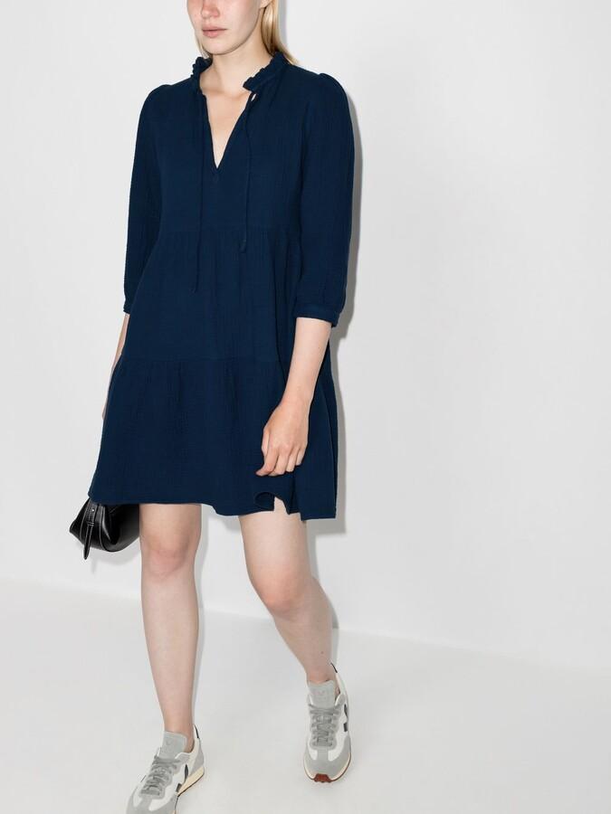 Thumbnail for your product : HONORINE Blue Giselle Cotton Mini Dress